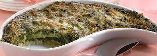 Sformato vegetariano di spinaci e formaggio
