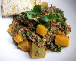 Lenticchie con la zucca al curry
