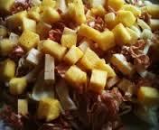 Insalata di radicchio e ananas