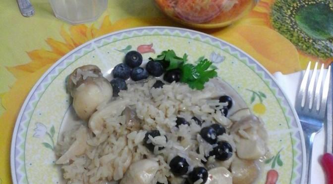 Il risotto ai mirtilli e funghi porcini di Roberta e Alessandro