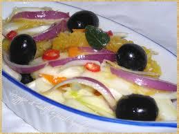Finocchi e cipolle rosse aromatizzati agli agrumi