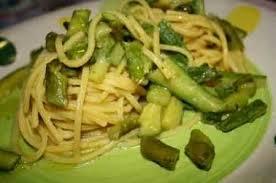 Spaghetti verdi agli asparagi