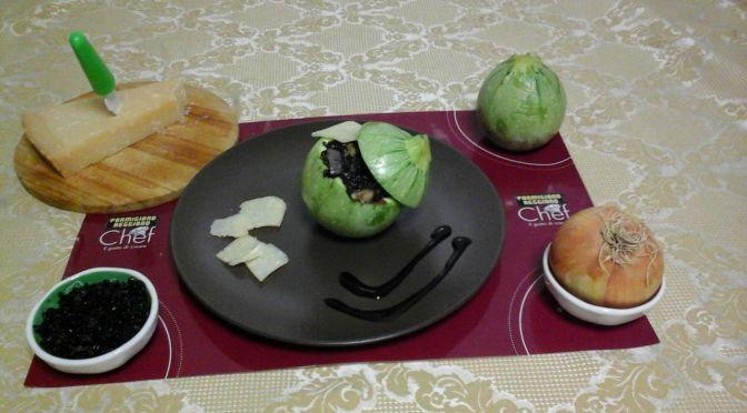 #PRChef2015 Riso Venere con zucchine e parmigiano reggiano filante in scrigno