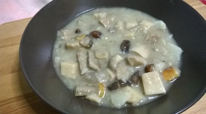 Zuppa funghi e topinambur
