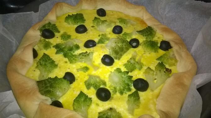 Torta broccolo e olive