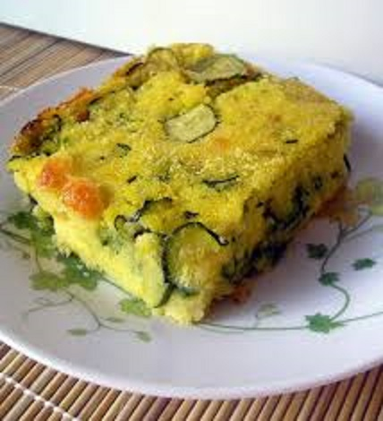 Torta di mais e zucchine al curry