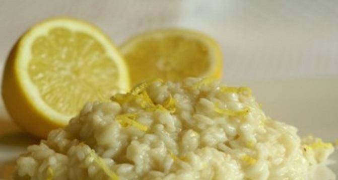 Risotto speziato aromatizzato al profumo di limone