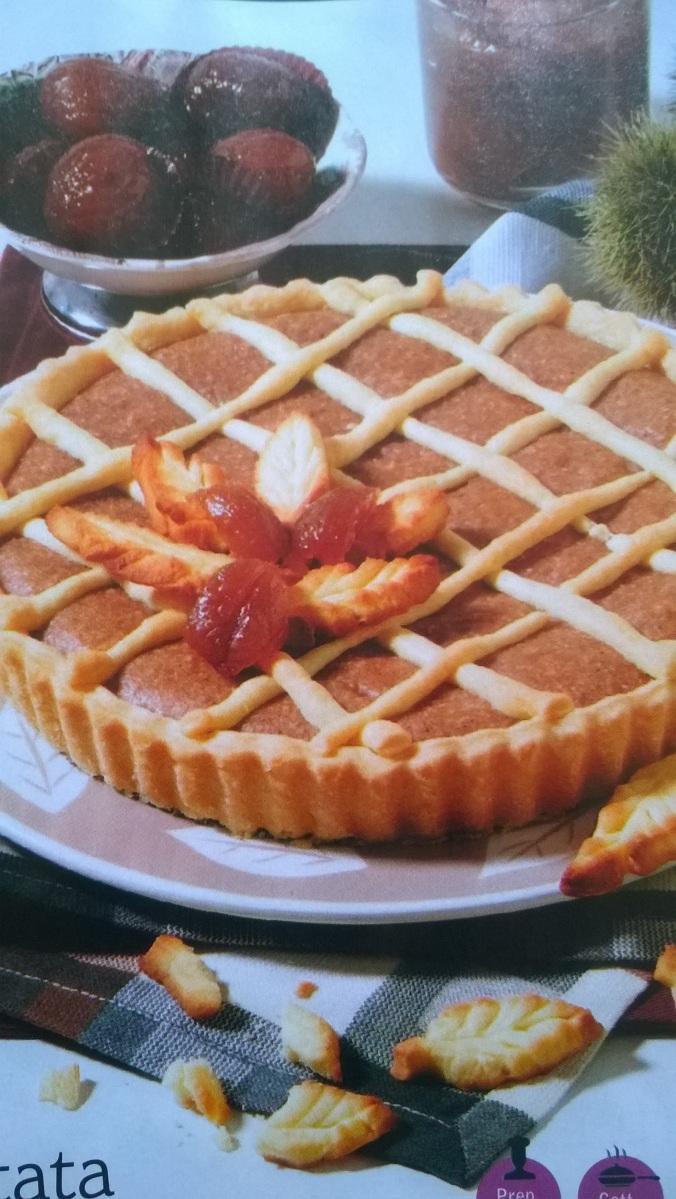 Crostata veg con marron glacé