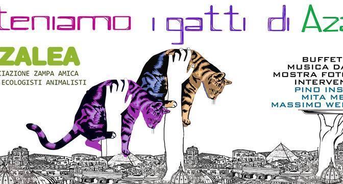 Sabato 17 settembre. Apericena vegan solidale per i gatti di AZALEA