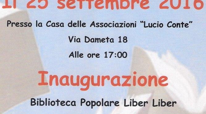 Parole in Piazza. Il 25 settembre si inaugura a La Rustica la Biblioteca Popolare Liber Liber