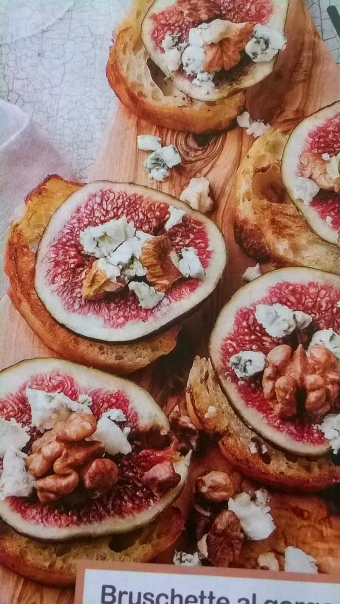 Bruschette gorgonzola e fichi