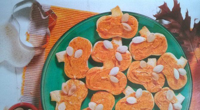 Crostini con semi di zucca