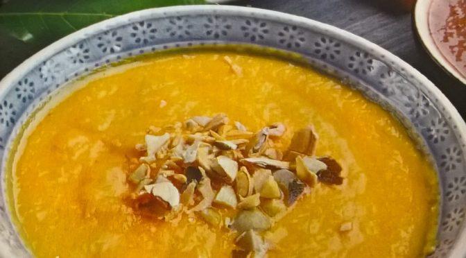 Vellutata arancione (zucca e carote)