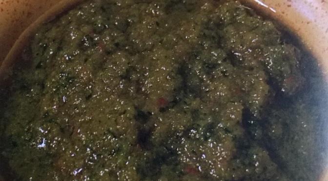 Bagnetto verde alla piemontese  (crudista)