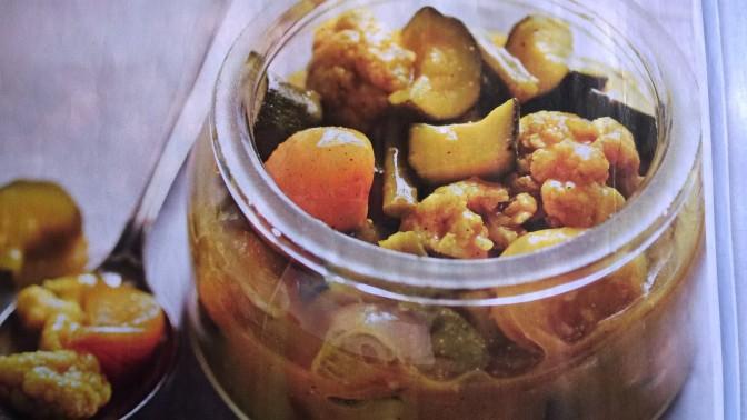 Verdure speziate all'aceto e senape