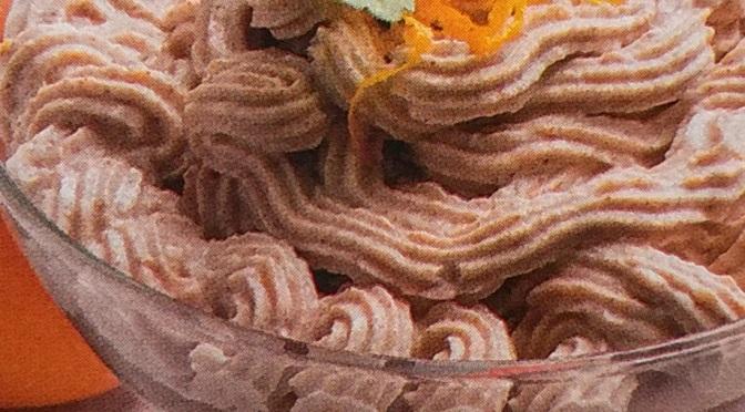 Crema con arancia e castagne al profumo di cannella