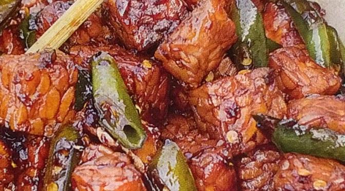 Tempeh speziato con salsa di soia