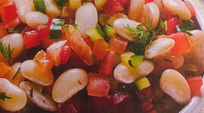 Cannellini con verdure all'aneto