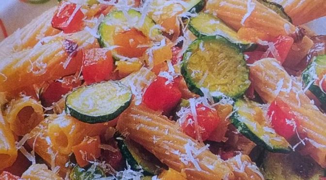 Tortiglioni zucchine e peperoni