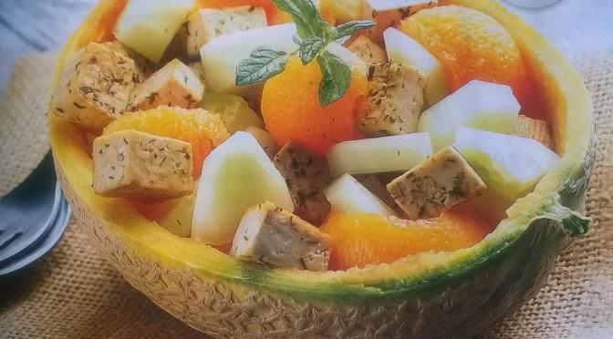 Insalata di melone al tofu