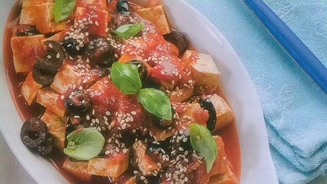 Tofu olive e sesamo