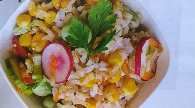 Insalata di riso thai ai sapori orientali