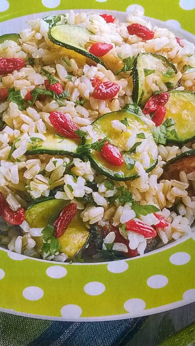 Risotto con zucchine e bacche di goji