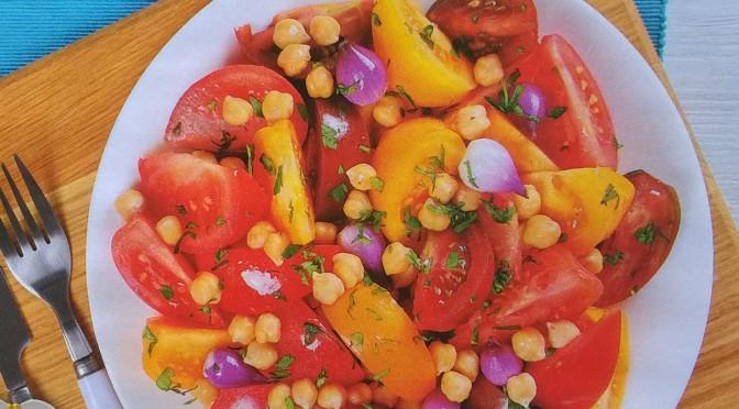 Insalata fredda di ceci e pomodori