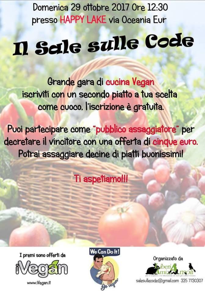 """Il sale sulle code"" Gara di cucina vegan a Roma"