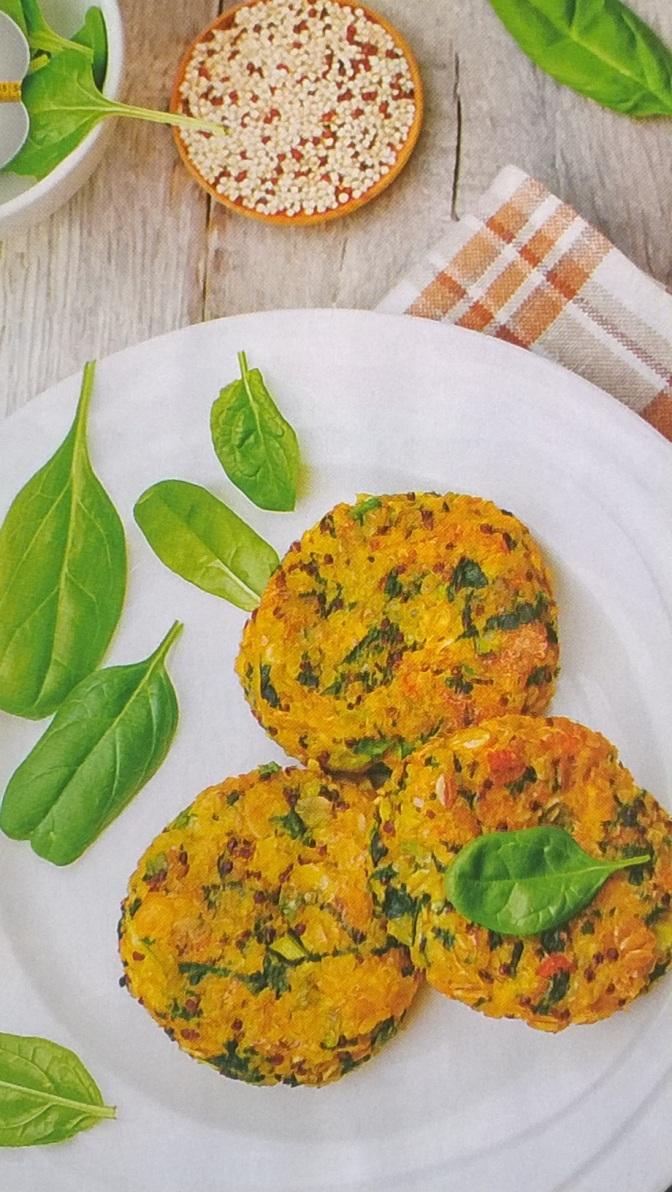 Crocchette di spinaci e quinoa