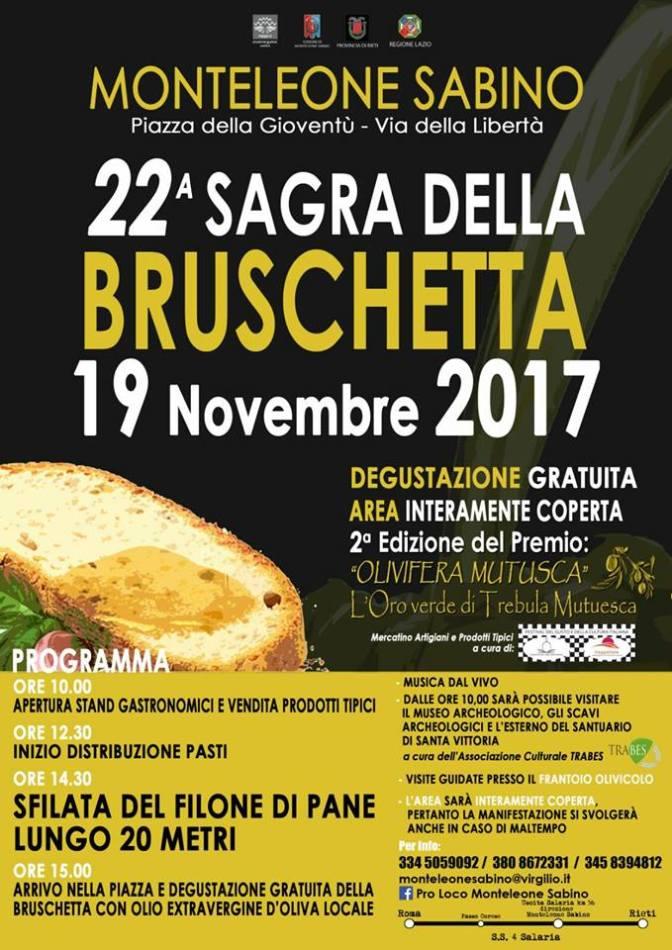 Ventiduesima Sagra della Bruschetta a Monteleone Sabino