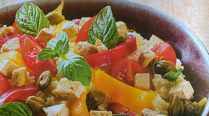 Couscous menta e tofu