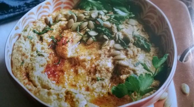 Hummus ai semi di zucca tostati e cannellini