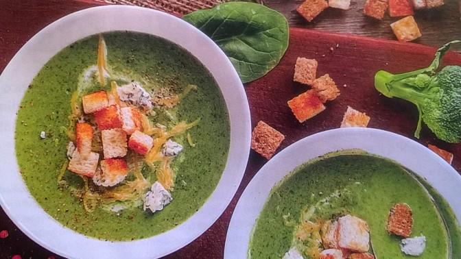 Crema saporita di broccoli e spinaci