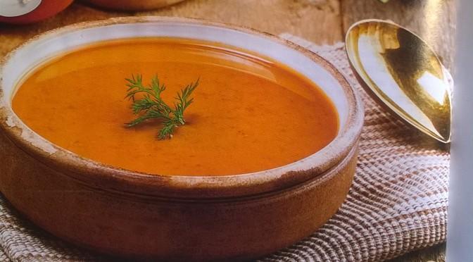 Vellutata di lenticchie rosse e carote