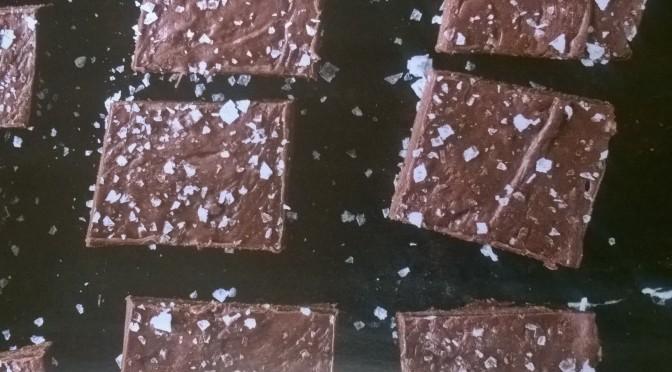 Fudge al cioccolato e fior di sale