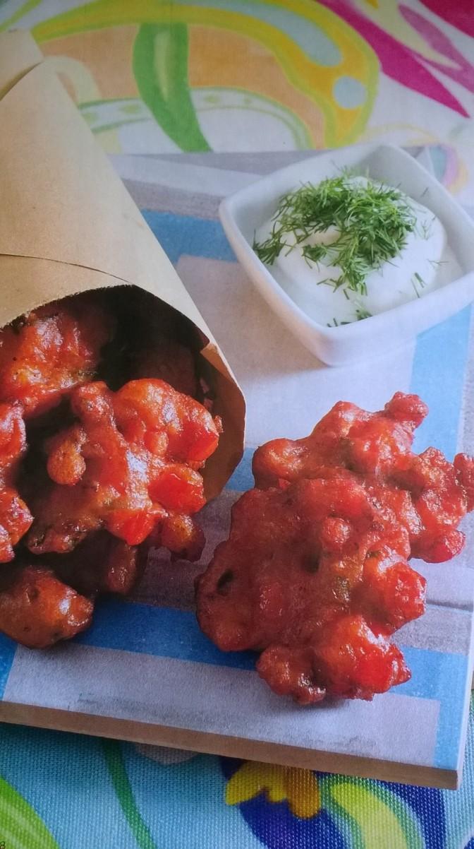 Frittelline di pomodoro alla greca