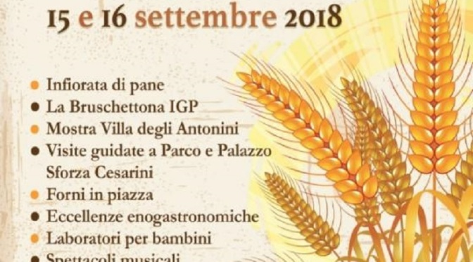 A Genzano torna la festa del pane il 15 e 16 settembre