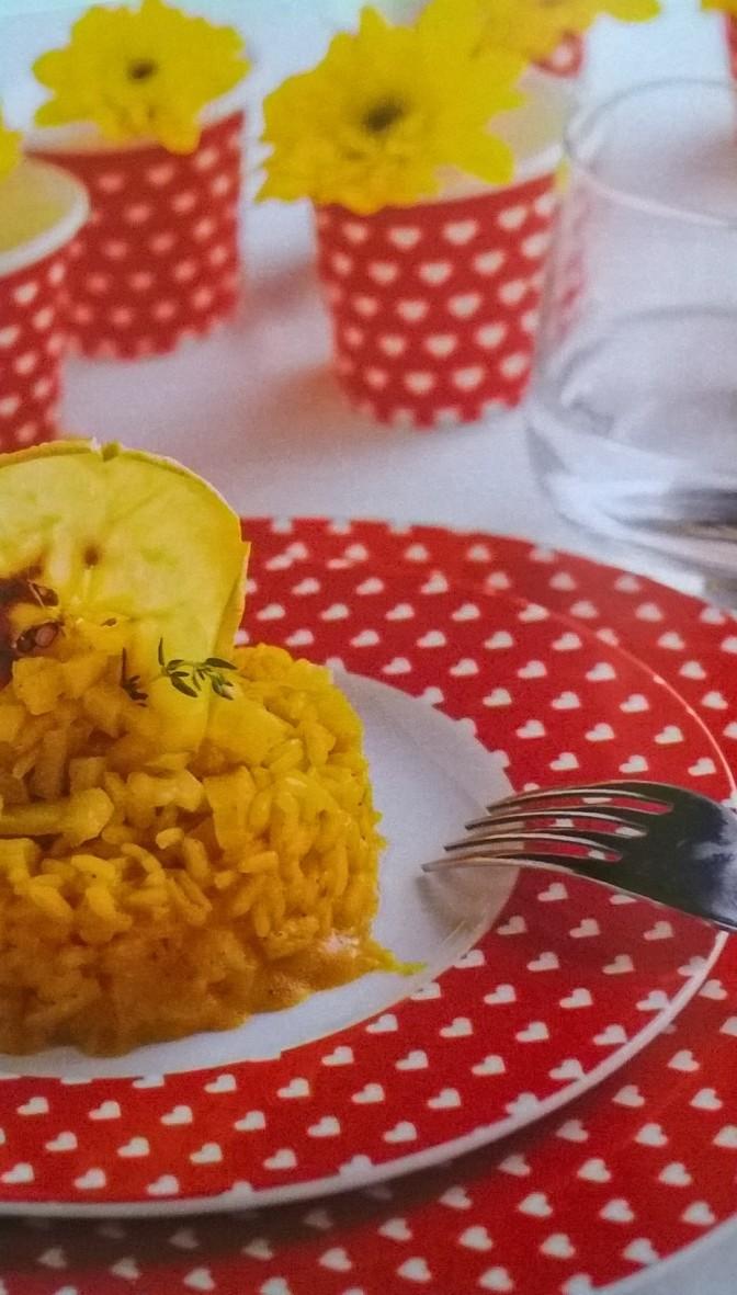 Risotto al curry con mele